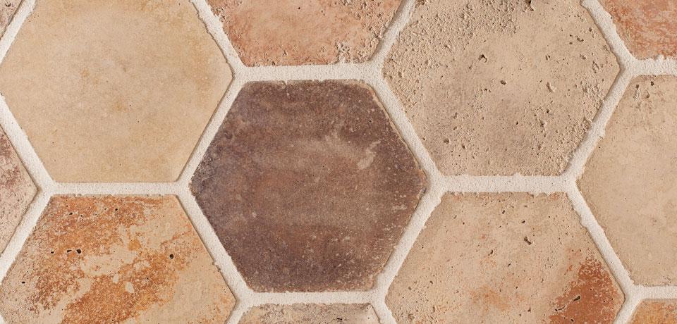 """Artillo 6"""" Hexagon Creme Friache"""