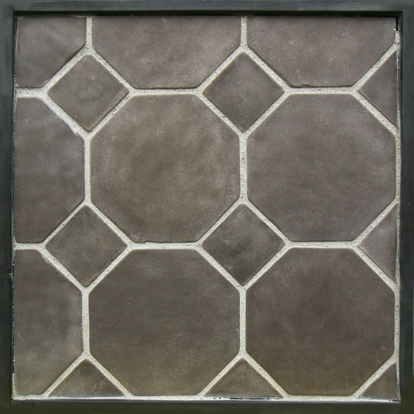 "10"" Octagon Charley Brown(premium series)Laticrete 24 Natural Gray Grout"