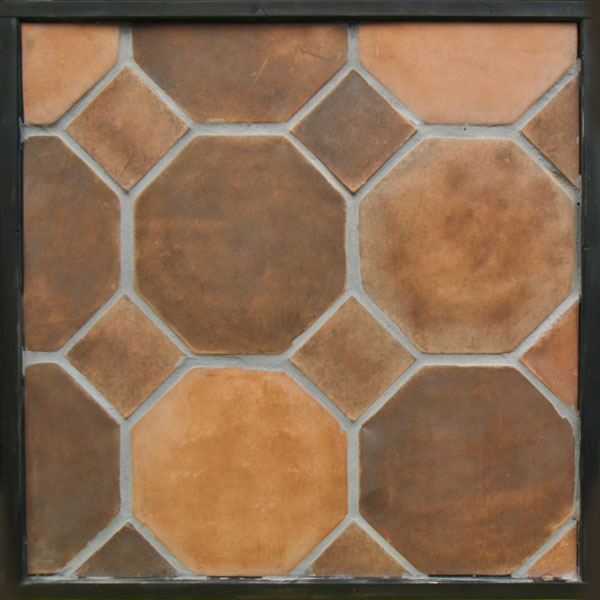 10'' Octagon Spanish Cotto(classic series)Laticrete 24 Natural Gray Grout
