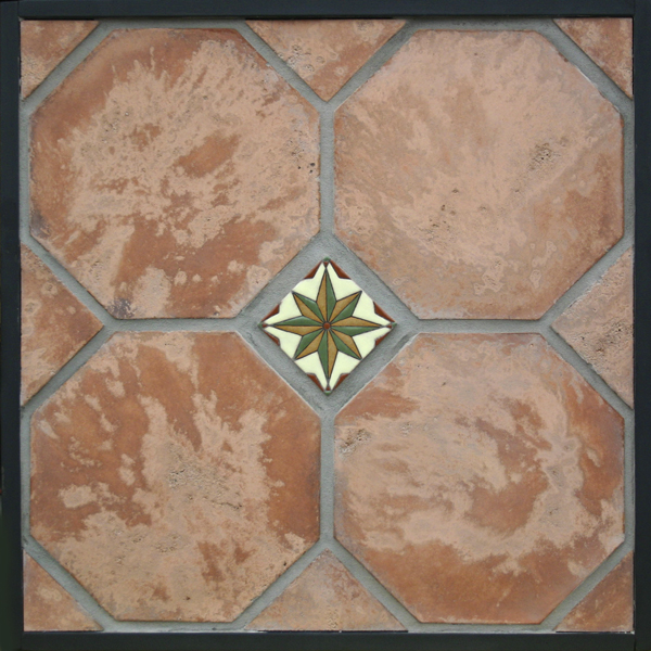 12'' Octagon Cotto Gold(classic series)Laticrete 24 Natural Gray Grout