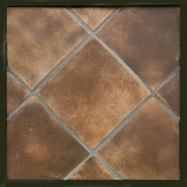 12x12 Artillo Cotto Dark (classic series) Laticrete 24 Natural Gray Grout