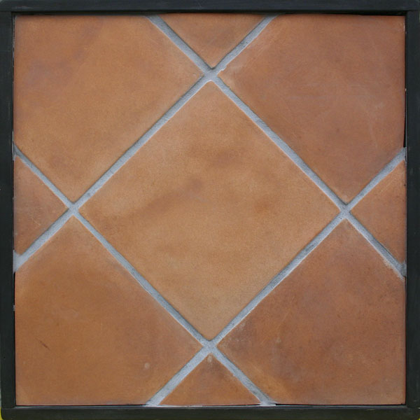 12x12 Artillo Cotto Gold (classic series) Laticrete 24 Natural Gray Grout