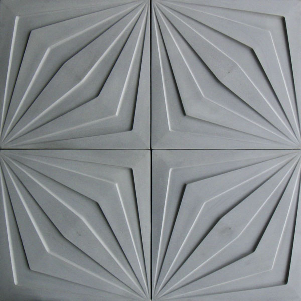 18x18 Compass Star Natural Gray