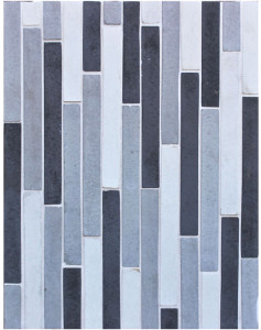 BB71 1x9 Artillo Motage Grays (early/natural/sidewalk/charcoal GRAYS) -Grout Used: Laticrete 18 Sauterne