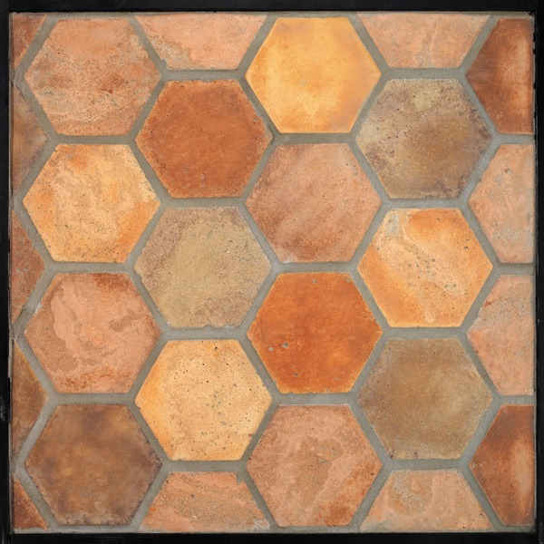 6'' Hexagon NormandyCream(signature series)Laticrete 24 Natural Gray Grout