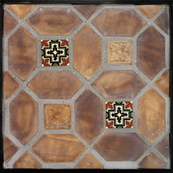 4x8 Pickets Tuscan Mustard(classic series)Laticrete 24 Natural Gray Grout