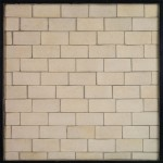 2x4 Artillo Hacienda Limestone (premium series)Laticrete 24 Natural Gray Grout