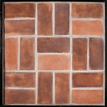 4x8 Smooth Brick Spanish Cotto(classic series)Laticrete 24 Natural Gray Grout