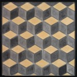 3x5 Diamond Charcoal Gray,Sidewalk, Hacienda(premium series)Laticrete 24 Natural Grout