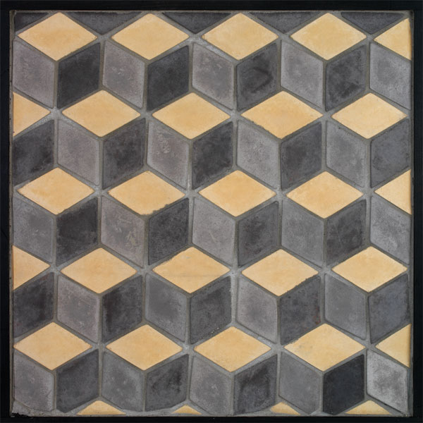 3x5 Diamond Charcoal Sidewalk Hacienda
