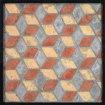 3x5 Diamonds Mission Red, Natural Gray, Old California Limestone (premium series)Laticrete 24 Natural Gray Grout