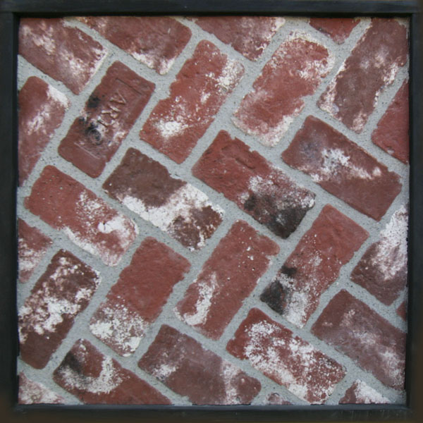 4x8 Antik Brick Used Red, Laticrete 24 Natural Gray Grout