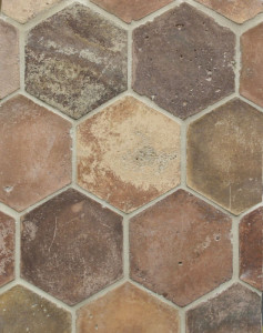 6'' Hexagon Normandy Cream(signature series) Laticrete 81 Butter Cream Grout