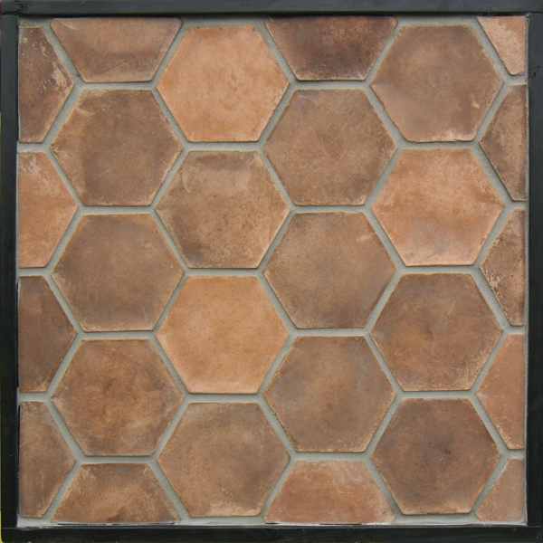 6''Hexagon Spanish Cotto(classic series)Laticrete 24 Natural Gray Grout