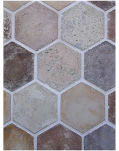 BB44 6'' Hexagon- Creme Fraiche Vintage-Grout Used: Laticrete 18 Sauterne