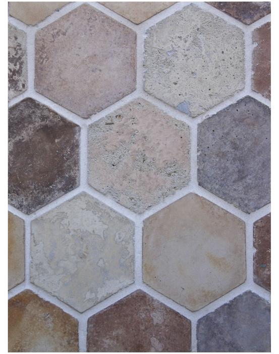 BB44 6'' Hexagon- Creme Fraiche Vintage