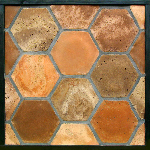 GB34 8'' Hex Normandy Cream(signature series)Laticrete 24 Natural Gray Grout