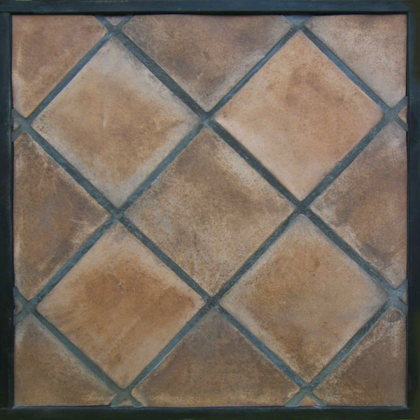 8x8 Artillo Spanish Cotto (classic series) Laticrete 24 Natural Gray Grout