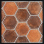 8'' Hexagon Spanish Cotto(classic series)Laticrete 24 Natural Gray Grout