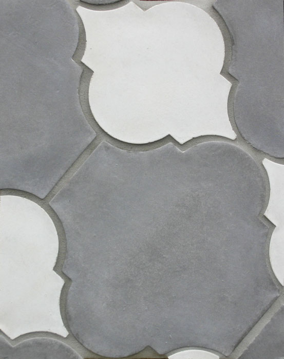 Arabesque Pattern 5b Sidewalk/Early Gray (premium series) Laticrete 24 Natural Gray