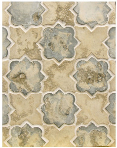 BB26 Arabesque Pattern 8c Winslet Blend.-Grout Used: Laticrete18 Sauterne---  Great tease of our arabesque series