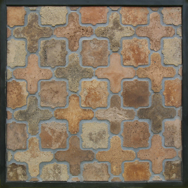 Arabesque Pattern 11a Normandy Cream(signature series)Laticrete 24 Natural Gray Grout