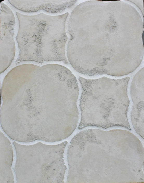 Arabesque Pattern 1 Hacienda(premium series) Limestone-Laticrete 24 Natural Gray Grout