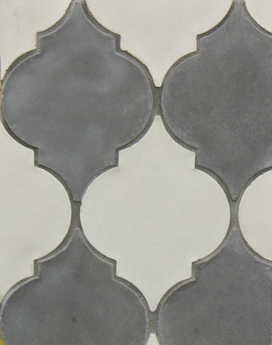 Arabesque Pattern 5a Early/Sidewalk Gray (premium series)Laticrete 24 Natural Gray Grout