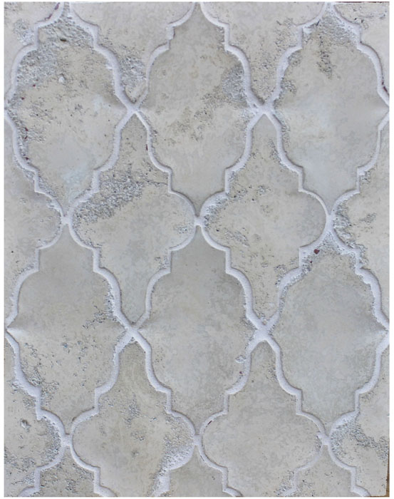 Arabesque Pattern 12 Hacienda Limestone-Laticrete 18 Sauterne Grout