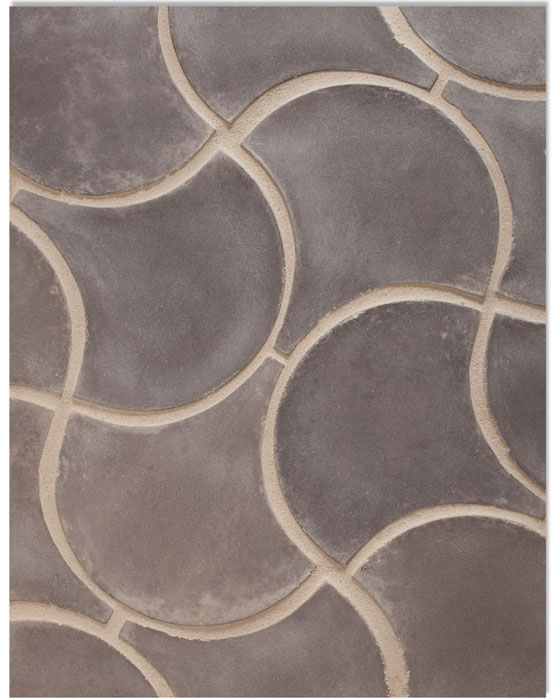 BB102_8''Conche_MoroccanPattern_CharcoalGray(premium series)Laticrete Grout Used:24 Natural Gray