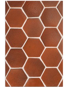 BB137 4'' Oleson Hexagon- Leather--Grout Used: Laticrete 18 Sauterne