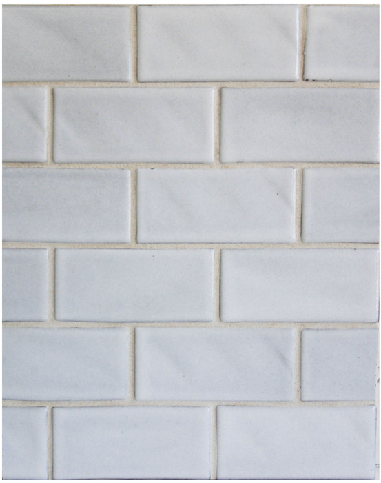 BB146 3x6 Oleson Great White-Grout Used: Laticrete 18 Sauterne