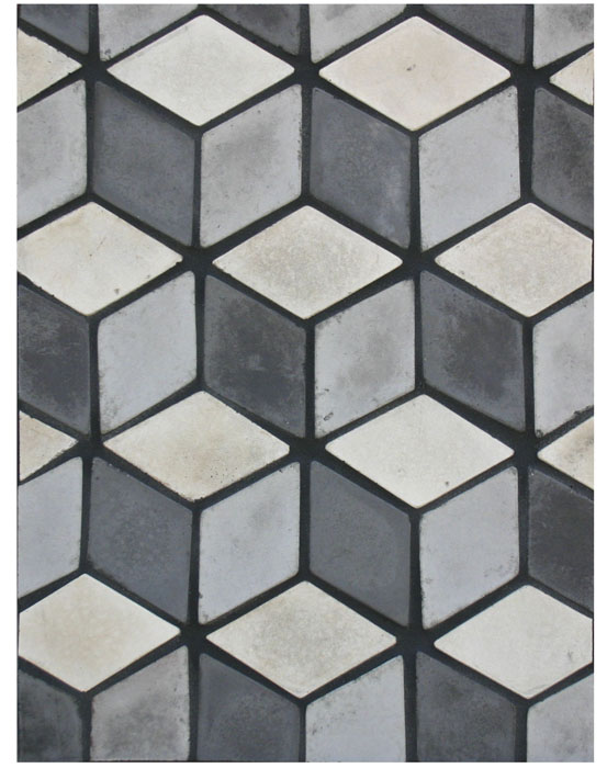BB 158- Mini Diamond- Early Gray, Natural Gray & Charcoal Gray-Grout Used: Laticrete 22 Midnight Black