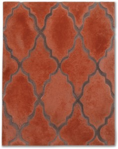 Arabesque Pattern 12 Mission Red(premium series)Laticrete 59 Espresso Grout