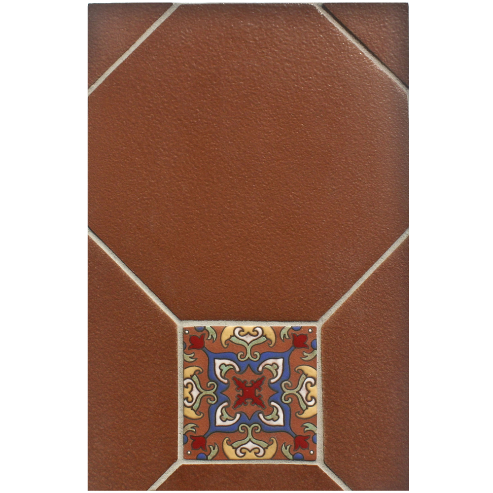 BB212 12x12 Monrovia Octagon Spanish Brown with Deco