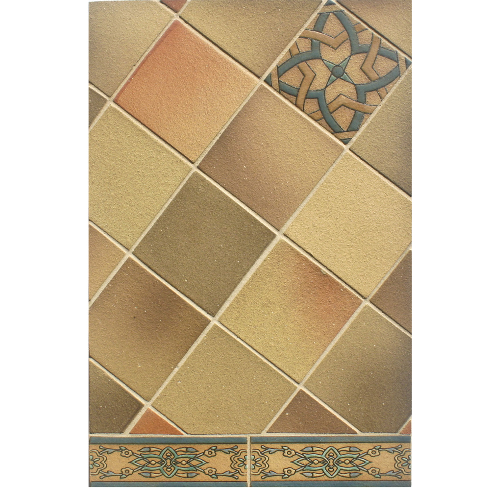 BB216 4x4 Coachela Filed Tile with Deco and Liner A