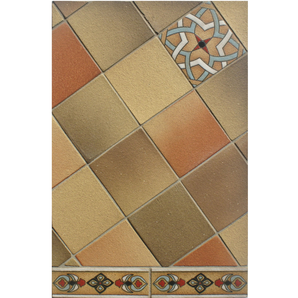BB218 4x4 Coachela Filed Tile with Deco and Liner C