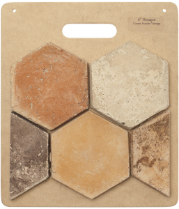HB54 6'' Hexagon-Creme Fraiche Vintage
