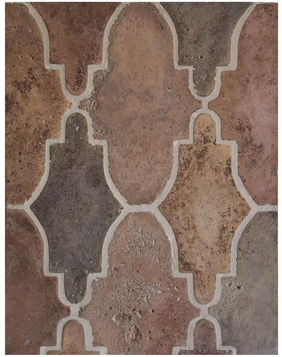 BB139* Arabesque Pattern 14- Normandy Cream-*Available At Select Dealers--Grout Used: Laticrete 81 Butter Cream