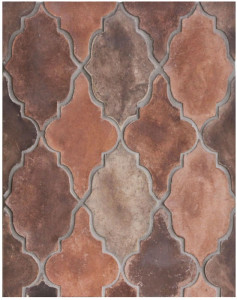 Arabesque Pattern 12 Josie Blend, Laticrete Grout Used: 24 Natural Gray