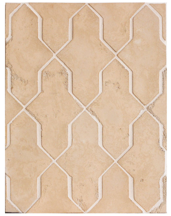 Arabesque Pattern 2a Old California Limestone (premium series)-Laticrete Grout Used: 18 Sauterne