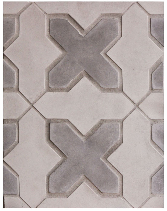 Arabesque Pattern 2b Smoke/Natural Gray (premium series), Laticrete Grout Used: 24 Natural Gray