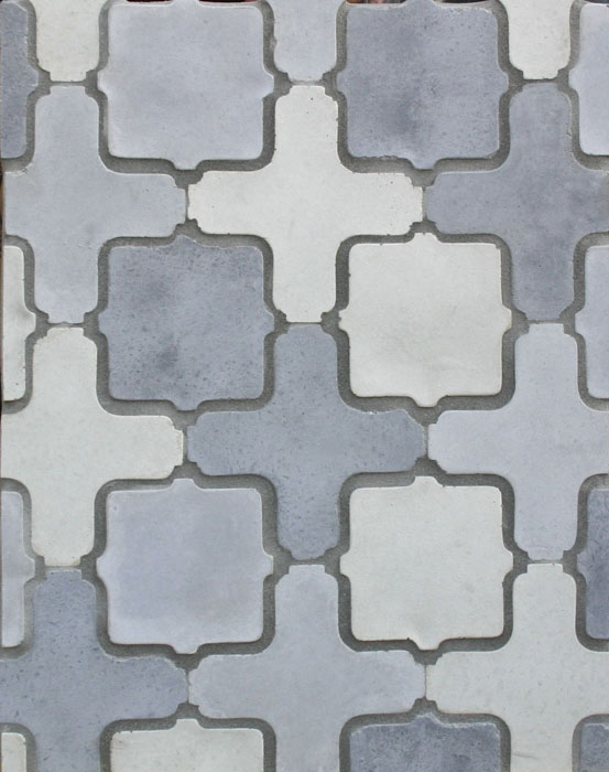 Arabesque Pattern 11a Sidewalk, Natural Early Gray-Laticrete Grout used: 24 Natural Gray