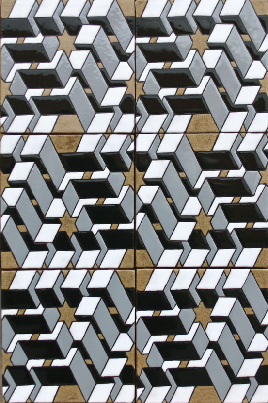 6x6 Escher Triangle 2 Deco
