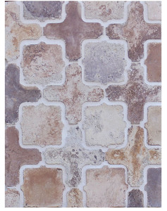 BB92 Arabesque 11a Creme Fraiche. Grout Used: Laticrete 18 Sauterne