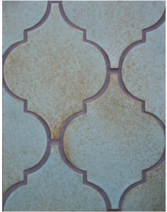 BB134 Clay Arabesque Pattern 5a-Chrome-Grout Used: Laticrete 59 Espresso