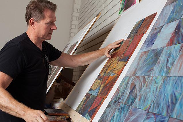 David Shipley Working in his Studio