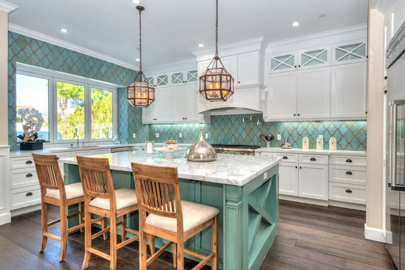 Turquoise Tile my blue kitchen ( turquoise ) tile | rustic elegance handcrafted