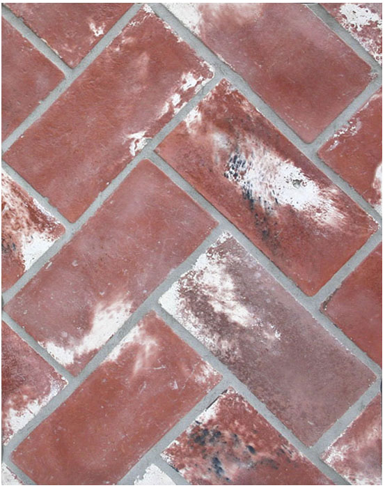 4x8 Smooth BRick Used Red ,Laticrete 24 Natural Gray Grout