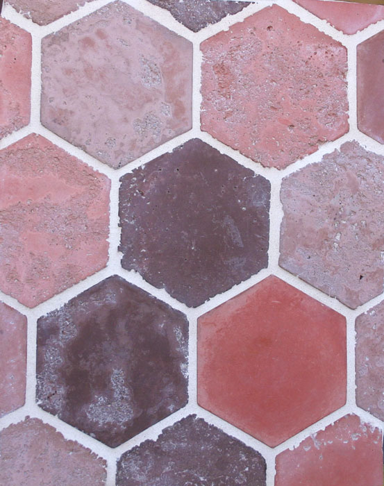 6'' Hexagon Douro Blend(signature series) Vintage-Laticrete 44 Bright White Grout